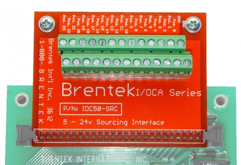 Brentek IDC50-SRC 50-pin Sinking Driver Interface - closeup