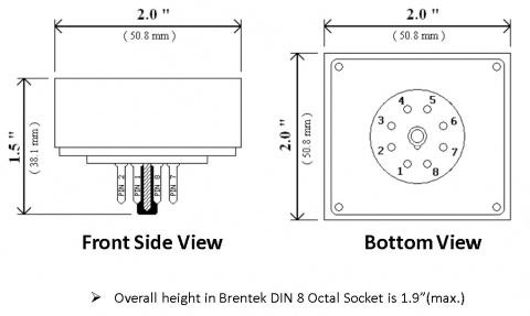 Brentek P8D-ISM Industrial Supervisory Module Dimensions