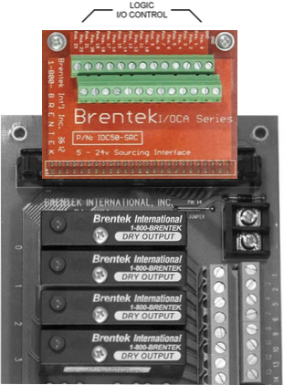 Brentek IDC50-SRC 50-pin Sinking Driver Interface on I/O rack
