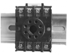 Brentek DIN 8 Octal Relay Socket - mounted on DIN-rail