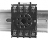 DIN 8 Octal Relay Socket - mounted on DIN-rail